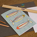 Fish In Colour Blank Notebook