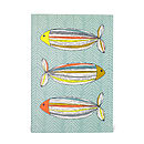 Fish in Colour blank notebook on white