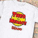 Personalised Beano Dennis The Menace T Shirt