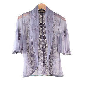 Purple Smoke Madeline Lace Jacket - jackets & coats
