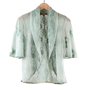 Reef Green Madeline Lace Jacket - coats & jackets