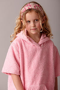 Girl's Towelling Robe With Liberty Trim