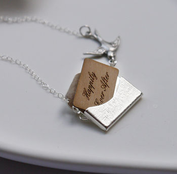 Personalised Silver Mini Love Letter Necklace