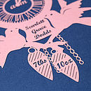 Personalised New Baby Cuckoo Clock Papercut