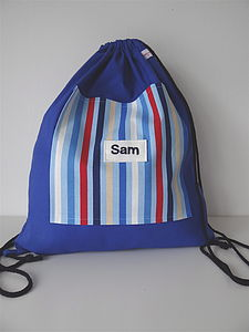 Personalised Stripe Kit Bag - bags, purses & wallets