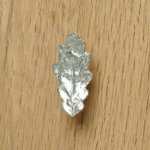 Oak Leaf Cupboard Handle Drawer Pull - door knobs & handles