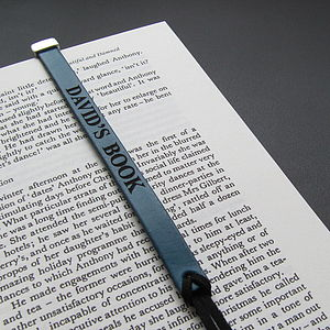 Personalised Leather Bookmark - publishing