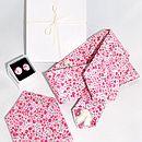 Phoebe H - Bespoke Mens Liberty Print Tie, Pocket Square & Cufflink Set