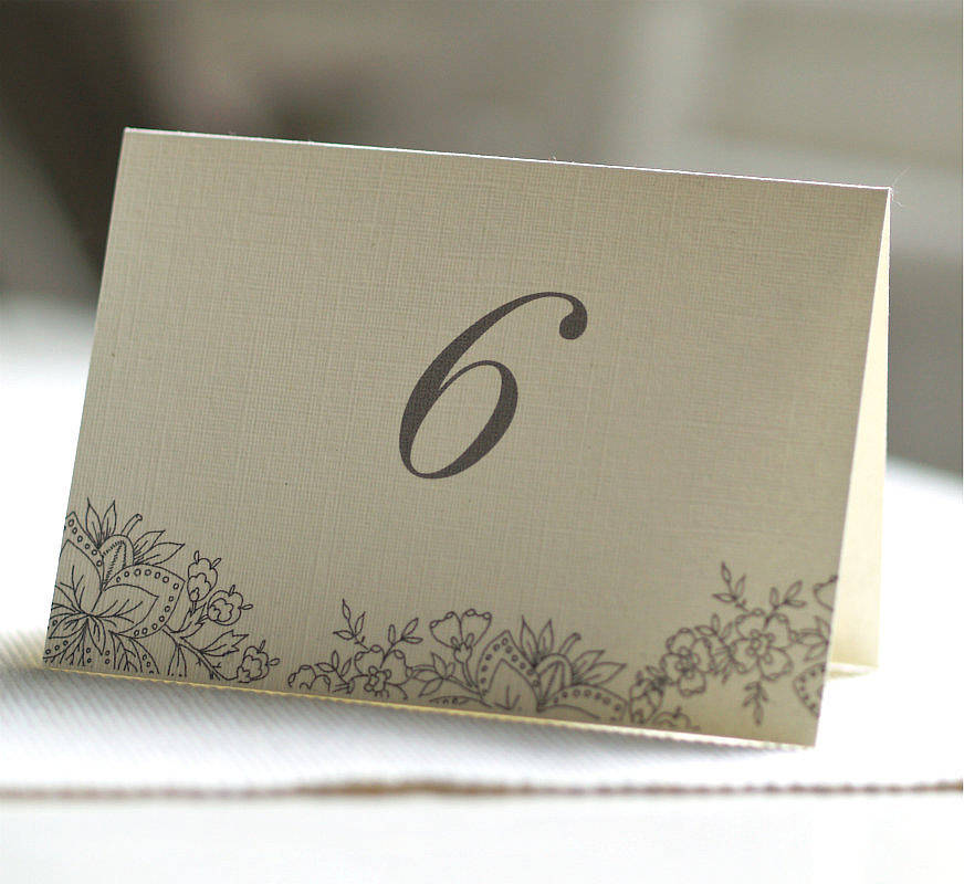 28 Double Sided Table Numbers Double Sided Table Numbers