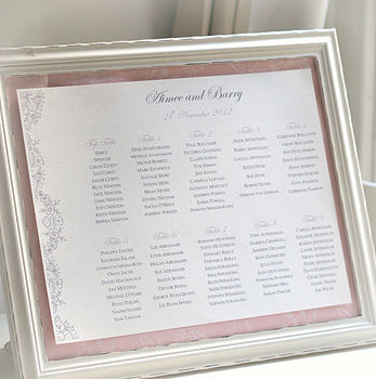 Floral Design Printable Wedding Seating Plan