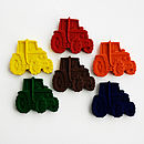 Set Of Six Tractor Crayons