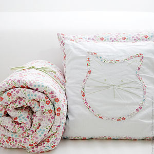 Floral Quilted Throw And Cushions Set