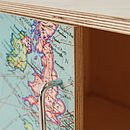 Vintage Europe Map Sideboard
