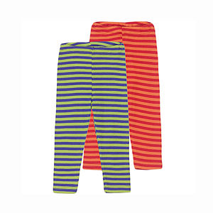 Stripey Organic Merino Wool And Silk Leggings - trousers & leggings