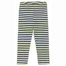 Stripey Organic Merino Wool And Silk Leggings