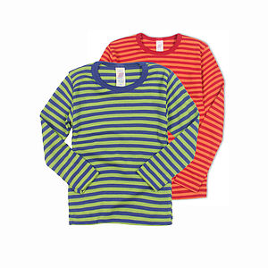 Child's Top In Organic Merino And Silk - t-shirts & tops