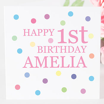 Personalised Birthday Girl Age Card