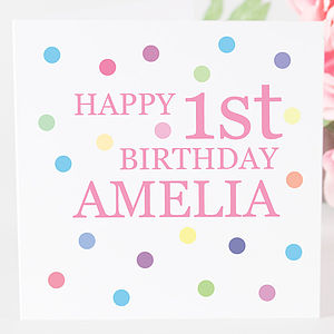 Personalised Birthday Girl Age Card - birthday cards