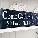 Personalised 'Come Gather In Our Kitchen'sign