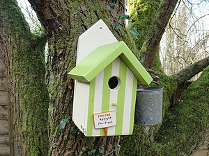 Personalised Handcrafted Beach Hut Bird House - bird houses