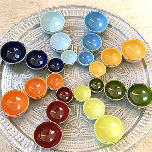 Individual Bright Moroccan Bowl - tableware