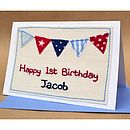 Handmade Personalised Birthday Card For Boys