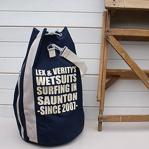 Personalised Sports Or Beach Duffle Bag - for him