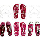 Footprint Wire Shoe Rack Twin Pack