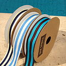 Blue stripe Grosgrain Ribbon