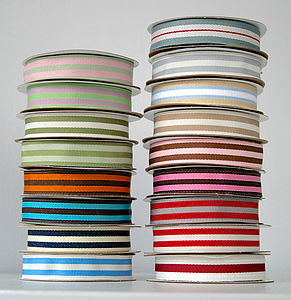 Stripe Grosgrain Ribbon 10 Metres - cards & wrap