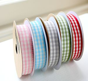 Gingham Cotton Ribbon - wedding stationery