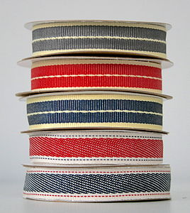 Denim Grosgrain Ribbon - ribbons
