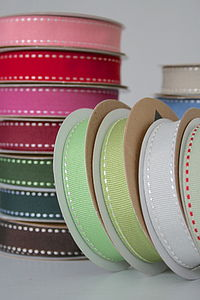 Stitched Grosgrain Ribbon Roll 10M - cards & wrap