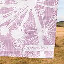 Mauve Cow Parsley Tea Towel Logo
