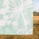 Sea Green Cow Parsley Tea Towel Logo