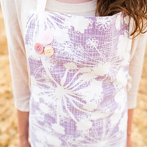 Mauve Cow Parsley Apron - cooking & food preparation