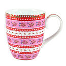 Set Of Two Floral Mugs