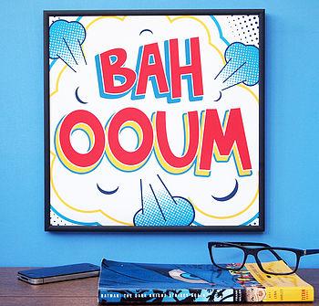 'Ba Hooum' Pop Art Print