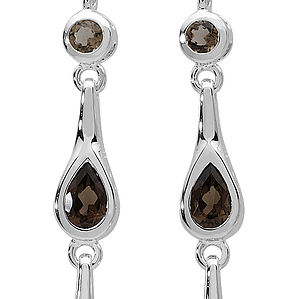 Modern Vintage Style Smokey Quartz Earrings - wedding jewellery