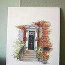 Personalised Front Door Illustration