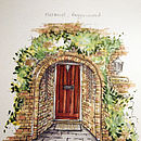 Personalised Front Door Sketch