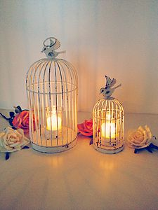 Pack Of Birdcage Lanterns Tea Light Holders - lighting