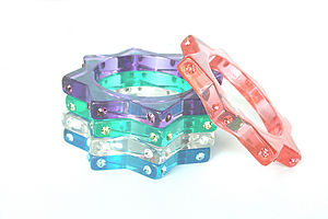 Starburst Crystal Resin Bangle - bracelets & bangles