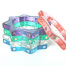 Starburst Crystal Resin Bangle