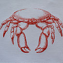 Orange Crab Napkin Close up