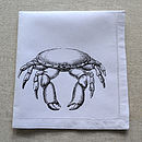 Black Crab Cotton 40x40cm Napkin