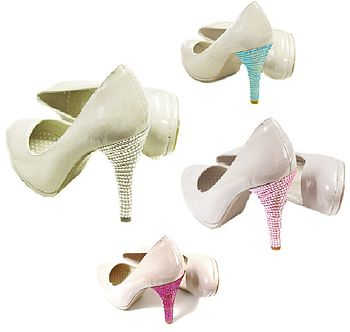 Sparkly Crystal Shoe Heel Decorations