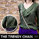Trendy Reflective Chain Belt, Sash, Bag Strap