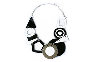 Monochrome Statement Necklace - necklaces & pendants