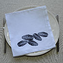 Mussels Table Napkin Navy